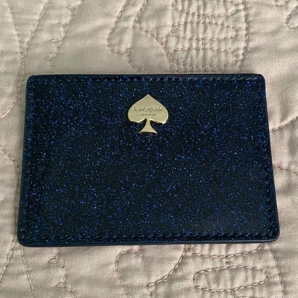 Like New Blue Sparkle Kate Spade Card Case